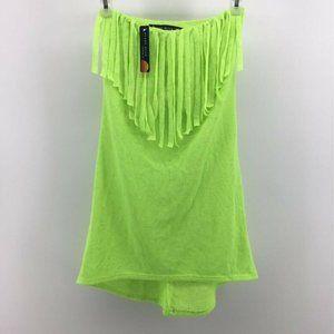 Ocean Drive Womens Swim Cover Up Dress Neon Green